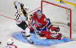 24 January 2009: Montreal Canadiens' goaltender Carey Price gives up a goal to Boston Bruins' Rookie right wing forward Blake Wheeler in the YoungStars Game where the Rookies defeated the Sophomores 9-5 in the NHL SuperSkills Competition, part of the All-Star Weekend at the Bell Centre in Montreal, Quebec, Canada. ***** Editorial Sales Only ***** Mandatory Photo Credit: Ed Wolfstein Photo