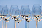 Wine glasses against blue sky; Alyeska Resort, Anchorage, Alaska..#D0505014