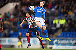St Johnstone v Kilmarnock.....09.11.13     SPFL<br /> Barry Nicolson and Liam Caddis<br /> Picture by Graeme Hart.<br /> Copyright Perthshire Picture Agency<br /> Tel: 01738 623350  Mobile: 07990 594431