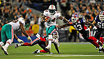 7 December 2008:  Miami Dolphins' running back Ricky Williams gains 23 yards on the play in the second quarter against the Buffalo Bills during the first regular season NFL game ever to be played in Canada. The Dolphins defeated the Bills 16-3 at the Rogers Centre in Toronto, Ontario. ..Mandatory Photo Credit: Ed Wolfstein Photo