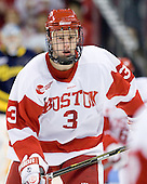 Charlie Coyle (BU - 3) - The visiting Merrimack College Warriors tied the Boston University Terriers 1-1 on Friday, November 12, 2010, at Agganis Arena in Boston, Massachusetts.