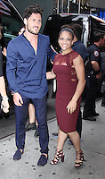NEW YORK, NY-September 07: Valentin Chmerkovskiy, Laurie Hernandez, at The Stars of Dancing with Stars Season 23 Press Junket  at Planet Hollywood Time Square in New York. NY September 07, 2016. Credit:RW/MediaPunch