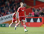 Aberdeen v St Johnstone...03.10.15   SPFL   Pittodrie, Aberdeen<br /> Ash Taylor celebrates his goal<br /> Picture by Graeme Hart.<br /> Copyright Perthshire Picture Agency<br /> Tel: 01738 623350  Mobile: 07990 594431