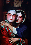 CHINA-10009, Performers from the Chinese Opera backstage, Hong Kong, China, 1984<br />