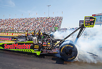 Sep 5, 2016; Clermont, IN, USA; NHRA top fuel driver J.R. Todd during the US Nationals at Lucas Oil Raceway. Mandatory Credit: Mark J. Rebilas-USA TODAY Sports