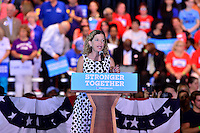 COCONUT CREEK, FL - OCTOBER 25: Rep. Debbie Wasserman Schultz (D-FL) speaks before the arrival of presidential nominee former Secretary of State Hillary Clinton at a campaign rally highlighting the start of in-person early voting at Omni Auditorium, Broward College North Campus on October 25, 2016 in Coconut Creek, Florida. With two weeks to go until election day, Clinton will urge Florida voters to take advantage of in-person early voting, which begins in many Florida counties.  Credit: MPI10 / MediaPunch