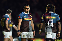 Joe Marchant of Harlequins looks on during a break in play. Aviva Premiership match, between Harlequins and Wasps on April 28, 2017 at the Twickenham Stoop in London, England. Photo by: Patrick Khachfe / JMP
