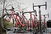 machines ready to race<br /> <br /> 11th Strade Bianche 2017