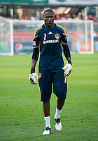 26 June 2010:  Los Angeles Galaxy goalkeeper Donovan Ricketts #1 during the warm-up in a game between the Los Angeles Galaxy and the Toronto FC at BMO Field in Toronto..Final score was 0-0...