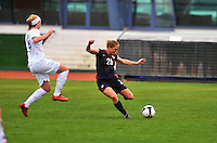 Rachel Buehler strikes the ball. The USWNT defeated Iceland (2-0) at Vila Real Sto. Antonio in their opener of the 2010 Algarve Cup on February 24, 2010.
