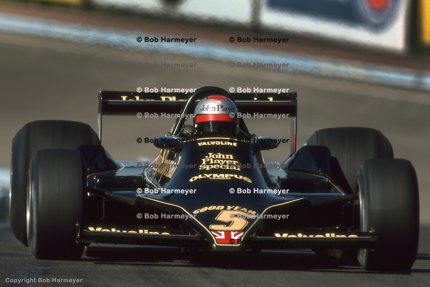 WATKINS GLEN, NY - OCTOBER 1: Mario Andretti drives his Lotus 79 R3/Ford Cosworth DFV during the United States Grand Prix East on October 1, 1978, at the Watkins Glen Grand Prix Race Course near Watkins Glen, New York.