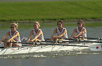 Nottingham, ENGLAND.  <br />  <br />   <br /> Commonwealth Regatta - Nottingham<br /> 20020818<br /> GBR LW4X <br /> Emily Booker, Patricia Salbany, Chantel Shalhoub and Victoria Richmond.