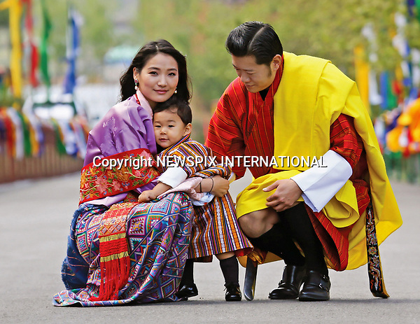 01.05.2017; Thimpu, Bhutan: PRINCE JIGME WITH HIS PARENTS KING WANGCHUCK AND QUEEN JETSUN PEMA<br />celebrates the anniversary of him receiving the name of Jigme Namgyel Wangchuck on the Zhabdrung Kuchoe. The Royal Family were photographed at the Tashichhodzong.<br />The young prince celebrated his first birthday on 5th February 2017.<br />Mandatory Credit Photo: &copy;Royal Palace/NEWSPIX INTERNATIONAL<br /><br />IMMEDIATE CONFIRMATION OF USAGE REQUIRED:<br />Newspix International, 31 Chinnery Hill, Bishop's Stortford, ENGLAND CM23 3PS<br />Tel:+441279 324672  ; Fax: +441279656877<br />Mobile:  07775681153<br />e-mail: info@newspixinternational.co.uk<br />Please refer to usage terms. All Fees Payable To Newspix International