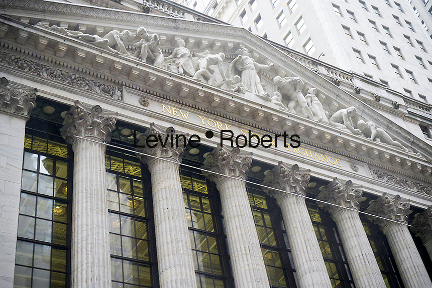 The New York Stock Exchange on Tuesday, January 24, 2017. Snap Inc. is planning an initial public offering this year, possibly valuing the company at at least $25 billion. The NYSE and Nasdaq are both competing for the IPO. (© Richard B. Levine)