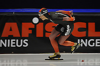 SCHAATSEN: HEERENVEEN; 11-10-2014, IJstadion Thialf, KNSB Trainingswedstrijd, Carien Kleibeuker, ©foto Martin de Jong