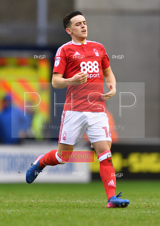 25/02/2017 Sky Bet Championship Wigan Athletic v Nottingham Forest<br /> <br /> Zach Clough, Nottingham Forest FC