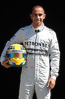 MERCEDES AMG BRITISH DRIVER,LEWIS HAMILTON. .Melbourne 16/03/2013 .Formula 1 Gp Australia.Foto Insidefoto.ITALY ONLY .Posato Ritratto Pilota