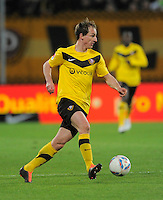 Fussball, 2. Bundesliga, Saison 2011/12, SG Dynamo Dresden - Fortuna Duesseldorf, Samstag (16.04.12), gluecksgas Stadion, Dresden. Dresdens David Solga am Ball.