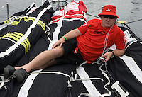 11APR09 Leg 6 Start , Rio de Janeiro to Boston. PUMA Ocean Racing leave the dock for the start of Leg 6 to Boston