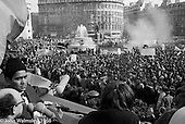 Anti-Vietnam war demonstration march from Trafalgar Sq to Grosvenor Sq Sunday 17th March 1968.