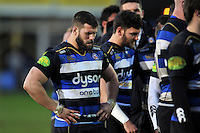 Guy Mercer of Bath Rugby looks dejected after the match. Aviva Premiership match, between Bath Rugby and Wasps on February 20, 2016 at the Recreation Ground in Bath, England. Photo by: Patrick Khachfe / Onside Images