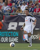 Philadelphia Union defender Danny Califf (4) passes the ball. In a Major League Soccer (MLS) match, the Philadelphia Union defeated the New England Revolution, 3-0, at Gillette Stadium on July 17, 2011.