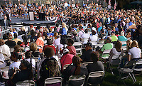 FT LAUDERDALE, FL - NOVEMBER 01: General view of 4,300 Supporters attends the Democratic presidential nominee Hillary Clinton campaign rally at Reverend Samuel Delevoe Memorial Park on November 1, 2016 in Ft Lauderdale, Florida. The presidential general general election is November 8.  Credit: MPI10 / MediaPunch