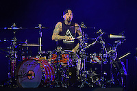WEST PALM BEACH, FL - AUGUST 05: Blink-182 performs at The Perfect Vodka Amphitheater on August 5, 2016 in West Palm Beach Florida. Credit: mpi04/MediaPunch