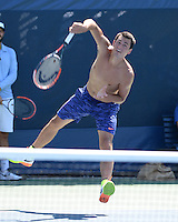 FLUSHING NY- AUGUST 28: Bernard Tomic on the practice court at the USTA Billie Jean King National Tennis Center on August 28, 2016 in Flushing Queens. Photo by MPI04 / MediaPunch