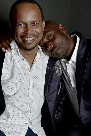 MIAMI BEACH, FL - MARCH 05: Director Kareem Mortimer and actor Jimmy Jean-Louis from the film 'Cargoí poses for a portrait in the Vallerymag.com Portrait Studio during the 2017 Miami Dade Collegeís 34th Miami Film Festival portrait at The Standard Hotel on March 5, 2017 in Miami Beach, Florida. Credit: MPI10 / MediaPunch