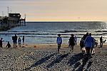 Coming to the beach, Newport Beach, CA.