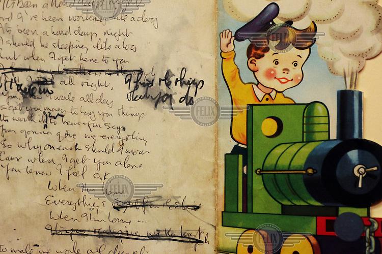 Birthday card with Lyric A Hard Days Night written on the back – Birthday Card Lyrics