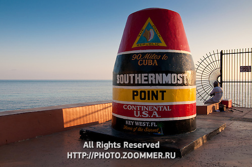 Key West marker - southernmost point of the USA
