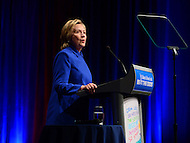 Washington, DC - November 16, 2016: Former Secretary of State and  U.S. presidential candidate Hillary Clinton speaks during the 'Beat the Odds Celebration' sponsored by the Children's Defense Fund at the Newseum in the District of Columbia, November 16, 2016.  (Photo by Don Baxter/Media Images International)