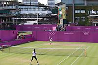Ambience..Tennis - OLympic Games -Olympic Tennis -  London 2012 -  Wimbledon - AELTC - The All England Club - London - Thursday 2nd August  2012. .© AMN Images, 30, Cleveland Street, London, W1T 4JD.Tel - +44 20 7907 6387.mfrey@advantagemedianet.com.www.amnimages.photoshelter.com.www.advantagemedianet.com.www.tennishead.net