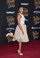 Carly Hughes at the premiere for Disney's &quot;Beauty and the Beast&quot; at El Capitan Theatre, Hollywood. Los Angeles, USA 02 March  2017<br /> Picture: Paul Smith/Featureflash/SilverHub 0208 004 5359 sales@silverhubmedia.com