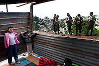 "El 14 de Enero del 2012, mas de 200 familias ocuparon un terreno de propiedad del Estado guatemalteco, cerca del Cuartel Militar ?Matamoros?, en la Ciudad de Guatemala. DespuÈs de siete meses, el 15 de Agosto, la PolicÌa Militar y la PolicÌa Nacional Civil han desalojado con la fuerza a los ocupantes...On 14 January 2012, more than 200 homeless families have occupied a vacant lot owned by the State of Guatemala near the Barracks Military ""Matamoros"", in Guatemala City. After seven months, August 15, the Military Police and the National Civil Police have forcibly expelled to the occupants..."