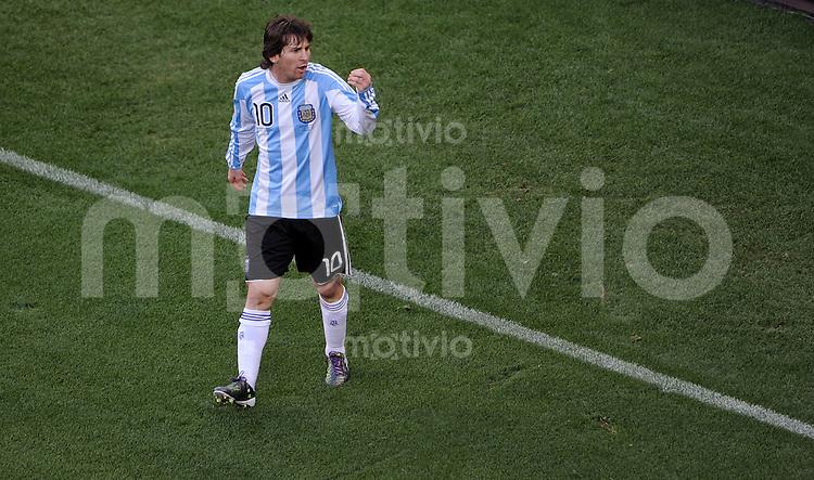 FUSSBALL WM 2010    VIERTELFINALE  03.07.2010 ARGENTINIEN - DEUTSCHLAND Lionel MESSI (Argentinien)