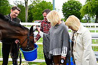 Connections of Cecilator in the winners enclosure during Afternoon Racing at Salisbury Racecourse on 18th May 2017