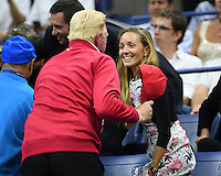 FLUSHING NY- SEPTEMBER 06: Boris Becker Jelena Djokovic seen watching Novak Djokovic Vs Jo Wilfred Tsonga on Arthur Ashe Stadium at the USTA Billie Jean King National Tennis Center on September 6, 2016 in Flushing Queens. Credit: mpi04/MediaPunch