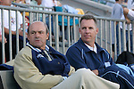 UNC assistant coaches Bill Palladino and Chris Ducar on Friday, November 4th, 2005 at SAS Stadium in Cary, North Carolina. The University of North Carolina Tarheels defeated the Duke University Blue Devils 2-1 in their Atlantic Coast Conference Tournament Semifinal game.