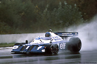 BOWMANVILLE, ONT: Ronnie Peterson drives the Tyrrell P34 6/Ford Cosworth DFV during practice for the Canadian Grand Prix on October 9, 1977, at Mosport Park near Bowmanville, Ontario.