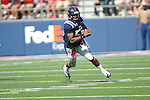Ole Miss linebacker Mike Marry (52) intercepts a pass vs. Auburn at Vaught-Hemingway Stadium in Oxford, Miss. on Saturday, October 13, 2012.
