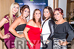 Rita Molloy, Shauna O'Shea, Margaret Molloy, Mary Moloney and Jamie Lee O'Sullivan pictured at the John Mitchel's Strictly Come Dancing at the Ballygarry House Hotel on Sunday night.