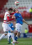Hamilton Academical St Johnstone....04.04.15<br /> David Wotherspoon and Mikey Devlin<br /> Picture by Graeme Hart.<br /> Copyright Perthshire Picture Agency<br /> Tel: 01738 623350  Mobile: 07990 594431