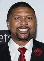 BEVERLY HILLS, CA, USA - OCTOBER 26: Jalen Rose arrives at the CP3 Foundation Celebrity Server Dinner held at Mastro's Steakhouse on October 26, 2014 in Beverly Hills, California, United States. (Photo by Rudy Torres/Celebrity Monitor)