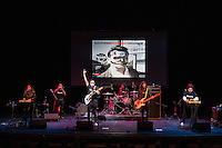 Mexrrissey, a Mexican supergroup that covers the songs of Morrissey, performs El Primero Del Gang (First of the Gang to Die) at the Perelman Theater in Philadelphia on October 30, 2016.