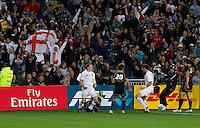 Rugby World Cup Auckland England v Scotland  Pool B 01/10/2011. Chris Ashton celebrates scoring England's try (England)   .Photo  Frey Fotosports International/AMN Images