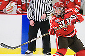 Jamie Goldsmith (St. Lawrence - 12) - The Harvard University Crimson defeated the St. Lawrence University Saints 8-3 (EN) to win their ECAC Quarterfinals on Saturday, February 26, 2011, at Bright Hockey Center in Cambridge, Massachusetts.