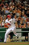 16 August 2008: Washington Nationals' third baseman Ryan Zimmerman in action against the Colorado Rockies at Nationals Park in Washington, DC.  The Rockies defeated the Nationals 13-6, handing the last place Nationals their 9th consecutive loss. ..Mandatory Photo Credit: Ed Wolfstein Photo